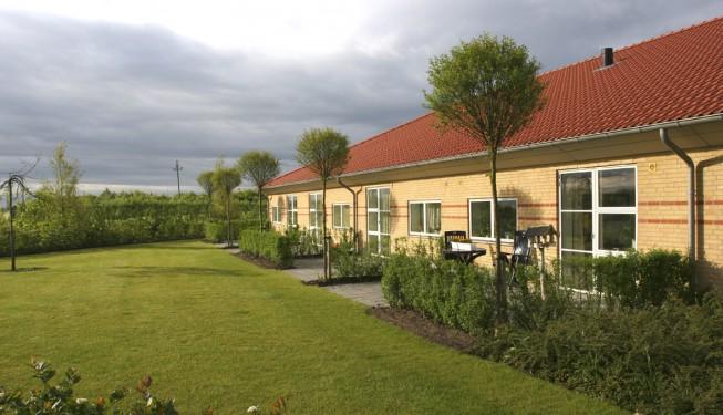 Haveanlæg ved Plejecenter Højmarken Gram