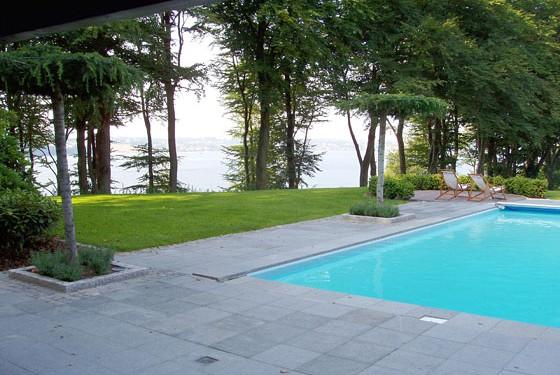Privat have ved Kolding Fjord